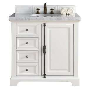 Ogallala 36 Single Cottage White Stone Top Bathroom Vanity Set by Greyleigh