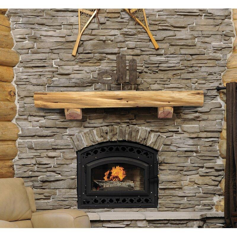 pearl mantels cedar live edge log fireplace shelf mantel wayfair rh wayfair com