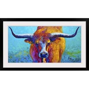 6f3c5eed75ef3 Wide Spread Texas Longhorn by Marion Rose Framed Painting Print