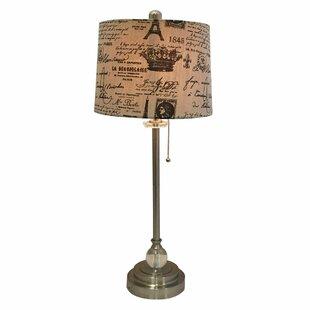 Michalak Eggshell French Print 28 Table Lamp (Set of 2)