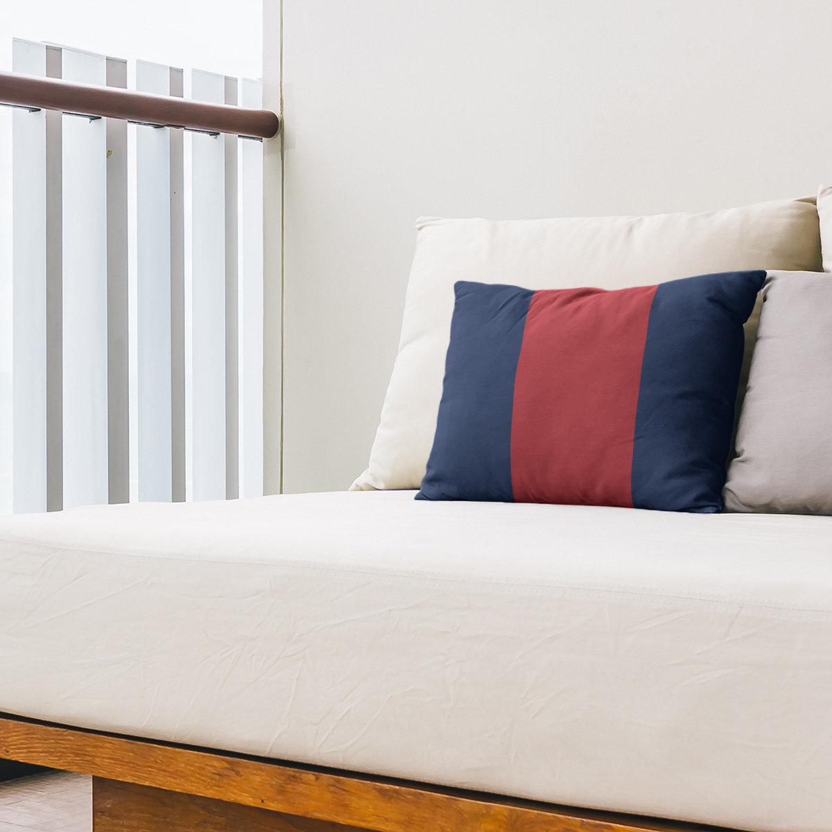East Urban Home Boston Baseball Indoor Outdoor Striped Lumbar Pillow Wayfair