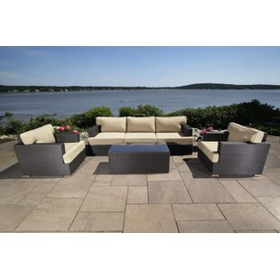 Salina 6 Piece Rattan Sofa Seating Group with Cushion