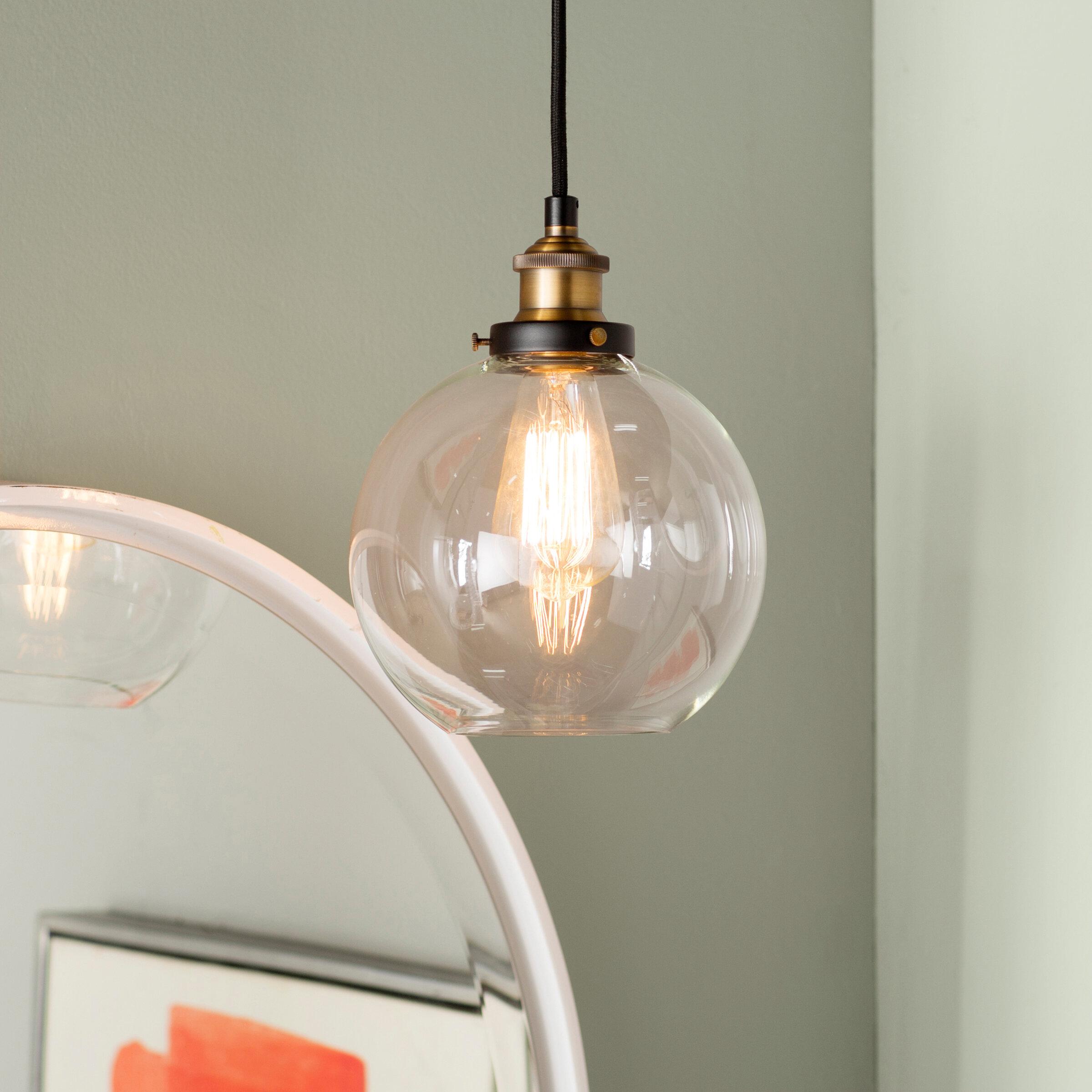 Mercury Row Bundy 1 Light Single Globe Pendant Reviews