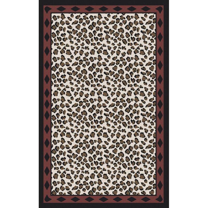 Bloomsbury Market Marigold Ivory/Black Animal Print Area Rug, Size: Rectangle 8 x 11