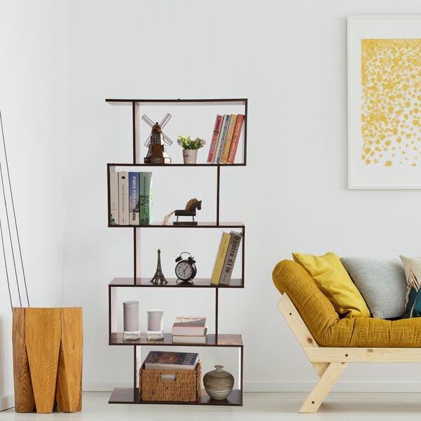 Corrigan Studio Merrell 61 81 H X 27 76 W Metal Geometric Bookcase Reviews Wayfair