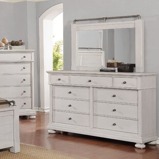 Darby Home Co Blaire 9 Drawer Double Dresser with Mirror