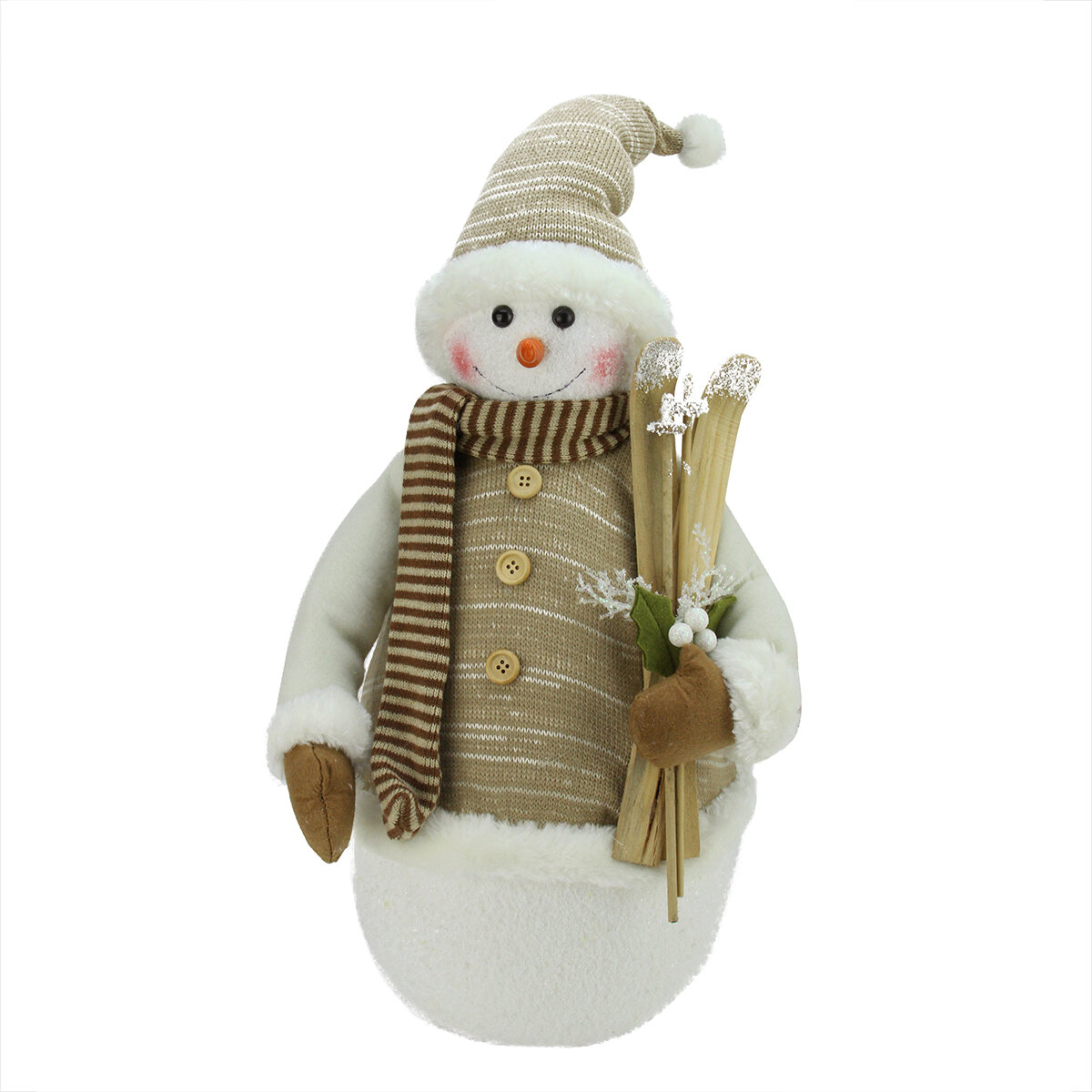 The Holiday Aisle Alpine Chic Snowman With Skis And Mistletoe Christmas Decoration Wayfair