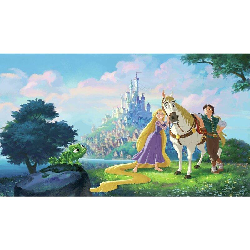 Room Mates Disney Princess Tangled Chair Rail 126 L X 72 W Wall Mural Wayfair