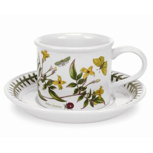 Botanic Garden 9 oz. Breakfast Cup and Saucer (Set of 6)