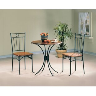Warsaw 3 Pieces Bistro Pub Table Set Fleur De Lis Living
