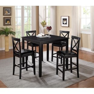 Pineiro Square 5 Piece Pub Table Set (Set of 5) Charlton Home