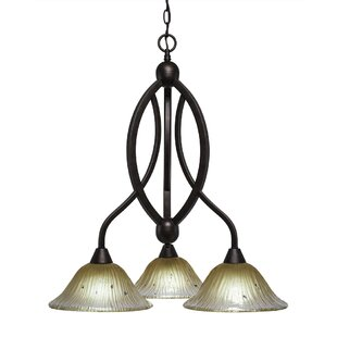 Fleur De Lis Living Blankenship 3-Light Shaded Chandelier