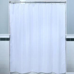 Best Reviews Satin Stripe Fabric Shower Curtain BySlipXSolutions