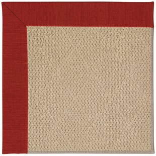 Lisle Machine Tufted Tomatoes and Beige Indoor/Outdoor Area Rug