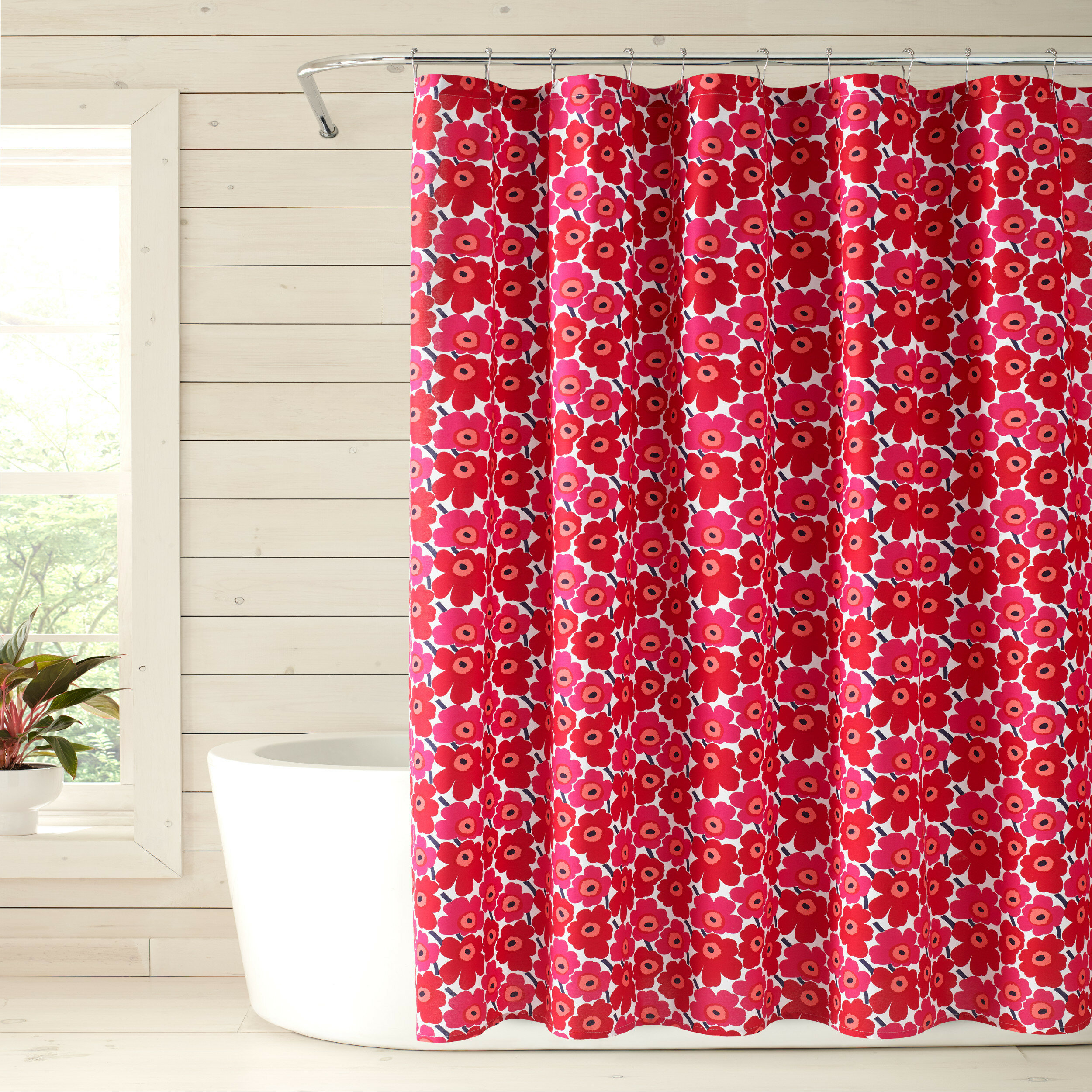 Cotton Floral Single Shower Curtain