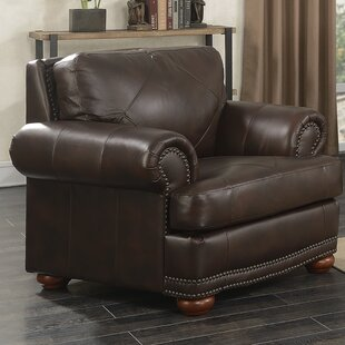 Darby Home Co Bednarek Premium Leather Club Chair