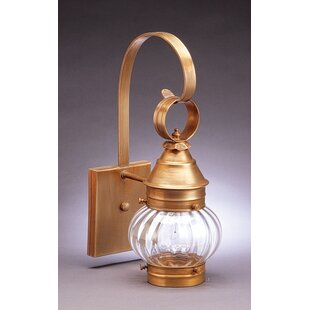 Buy luxury Onion 1-Light Outdoor Wall Lantern By Northeast Lantern
