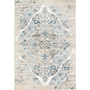 Paden Cream Teal Area Rug Wayfair