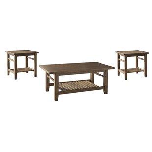 World Menagerie Avalon 3 Piece Coffee Table Set