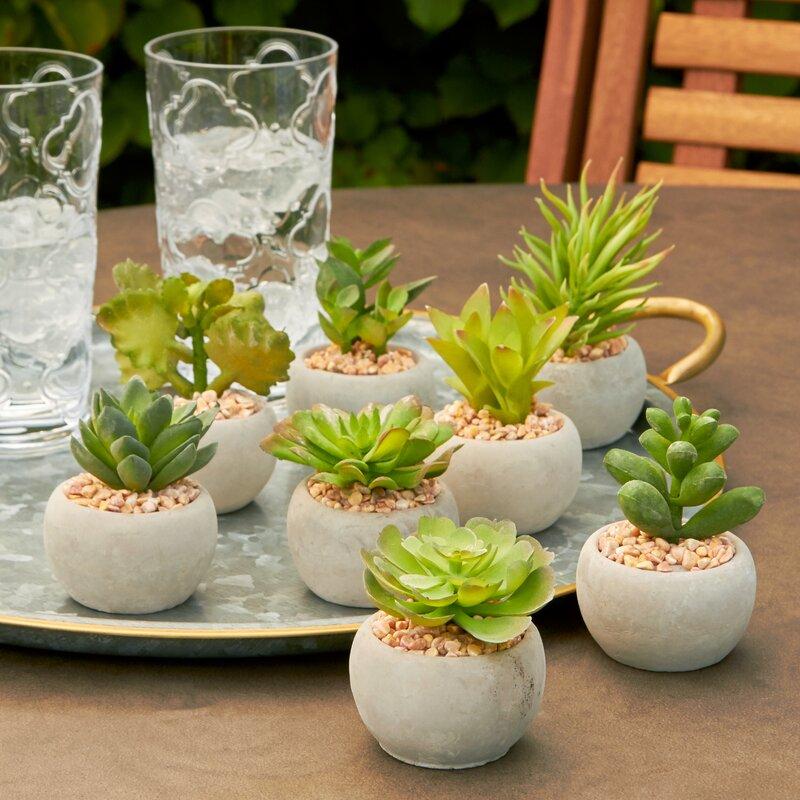Marvelous Faux Mini Plant In Pot