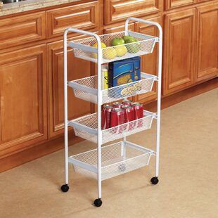 Graham Deluxe 4 Tier Rolling Bar Cart by Rebrilliant