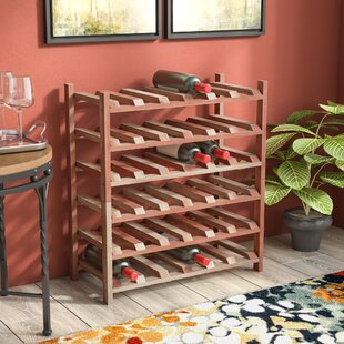 Karnes Redwood Stackable 36 Bottle Floor Wine Rack by Red Barrel Studio