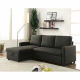 Bhuri 54'' Linen Reversible Sleeper Sofa & Chaise by Latitude Run®