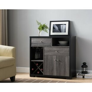 Angelica Dual-Tone Wooden Bar Cabinet by Wrought Studio