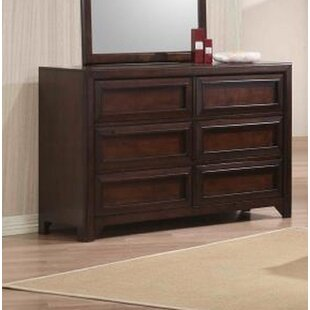 Inexpensive Serrano 6 Drawer Double Dresser ByHarriet Bee