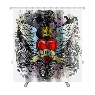 Danger Hewith Wings Premium Single Shower Curtain