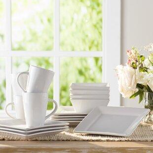 Stoneware White Dinnerware Sets You\'ll Love | Wayfair