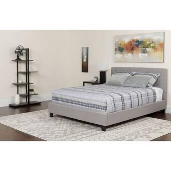 07872a66f51c76 Charlton Home Karissa Upholstered Platform Bed with Mattress | Wayfair
