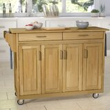 Stroman Kitchen Island with Natural Wood by August Grove®
