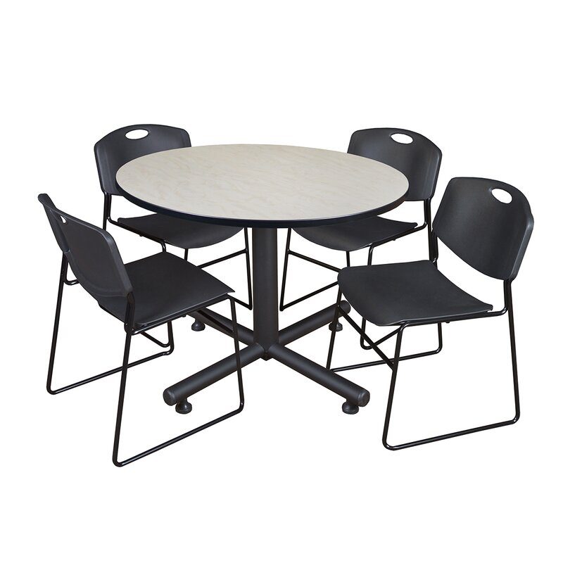 Symple Stuff Marin Round 5 Piece Breakroom Table And Chair Set Wayfair
