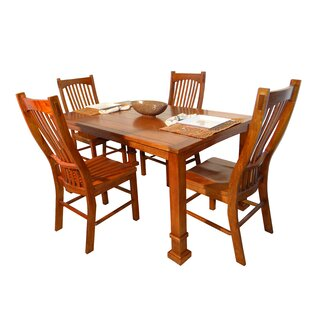 Lagunitas 5 Piece Solid Wood Dining Set