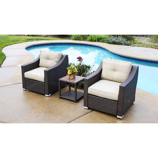Suai 3 Piece 2 Person Seating Group with Cushions