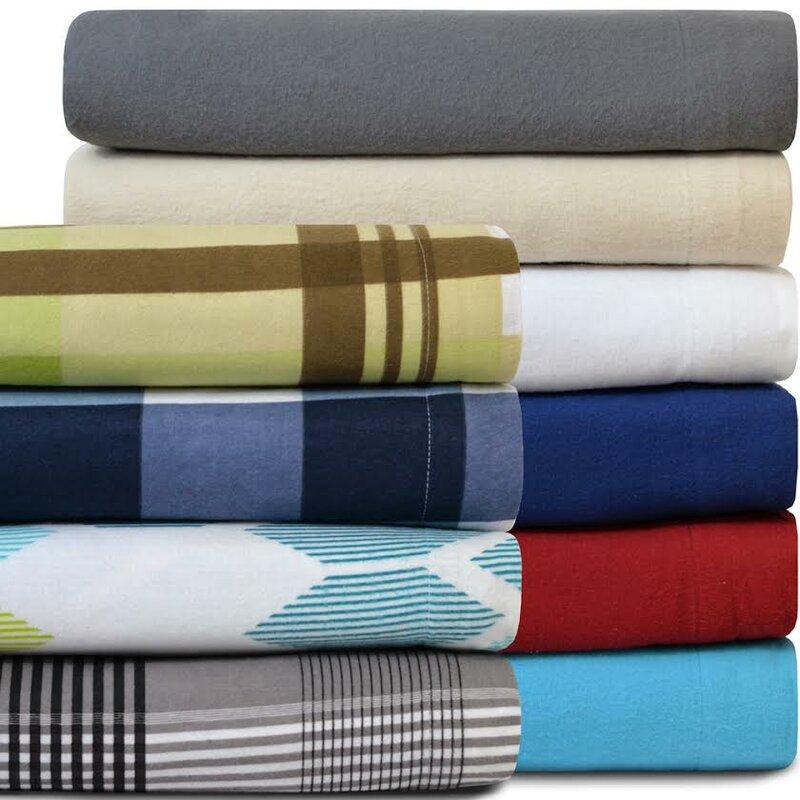 Twin XL 100% Cotton Flannel Sheet Set