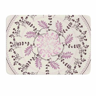 Pinkish Madellion by Famenxt Memory Foam Bath Mat