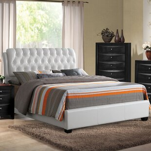 Latitude Run Horsetail Upholstered Panel Bed
