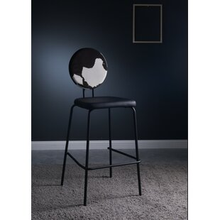 Januario Cow Print 29 Bar Stool Wrought Studio