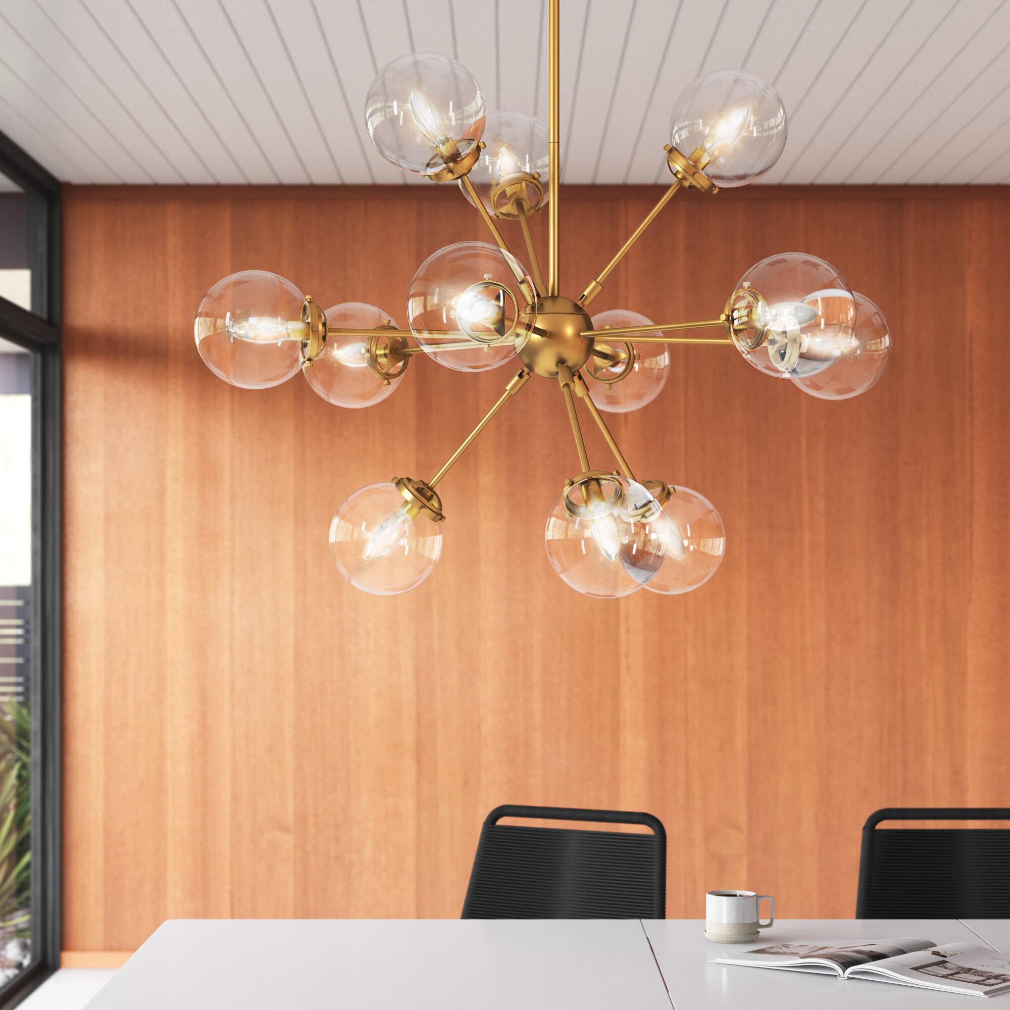 Allmodern 12 Light Sputnik Sphere Chandelier Reviews Wayfair