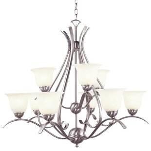 Charlton Home Newent 9-Light Shaded Chandelier