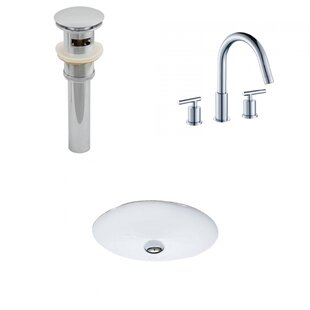 Find Ceramic Oval Undermount Bathroom Sink with Faucet and Overflow ByAmerican Imaginations