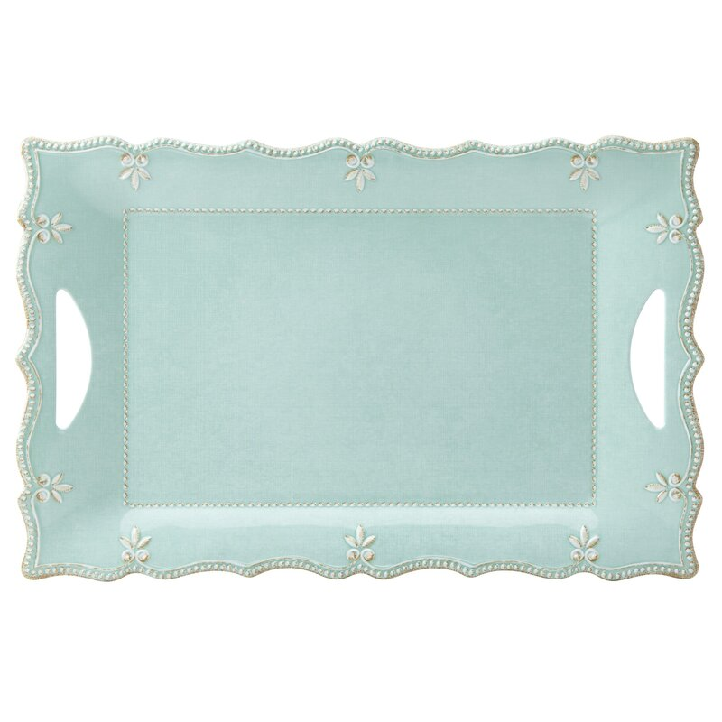 French Perle Rectangular Melamine Platter