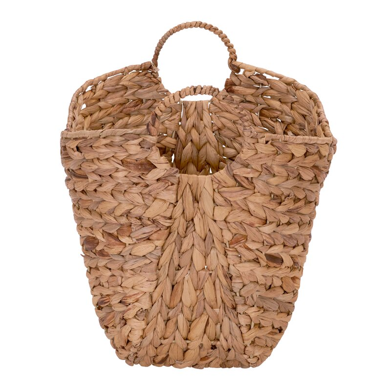 Tall Water Hyacinth Wicker Basket