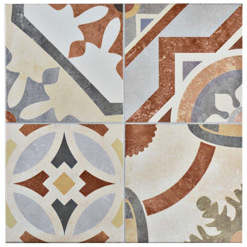Hydraulic 13 X Ceramic Field Tile In Beige Terracotta