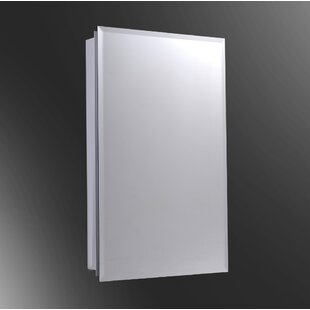 Ouida Edge Mirror Door 52 x 18 Surface Mount Frameless Medicine Cabinet with 7 Adjustable Shelves By Winston Porter