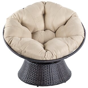 Orren Ellis Baddeley Swivel Papasan Chair