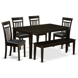 Smyrna 6 - Piece Solid Wood Dining Set by Charlton Home®