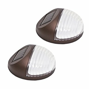 ALEKO Solar Powered 2-Light LED Deck Light (Set of 2)